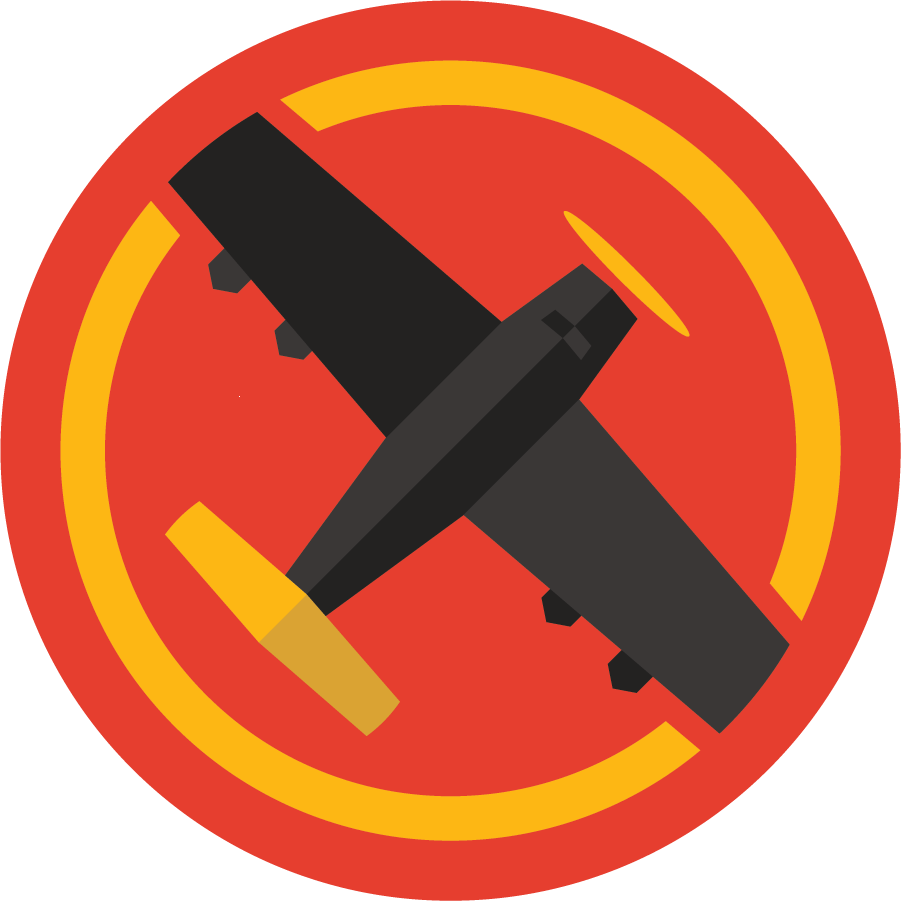 Black Airplane logo