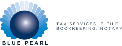 Blue Pearl Bookkeeping & Tax Services Logo