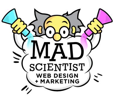 Mad Scientist Web Design + Marketing Logo
