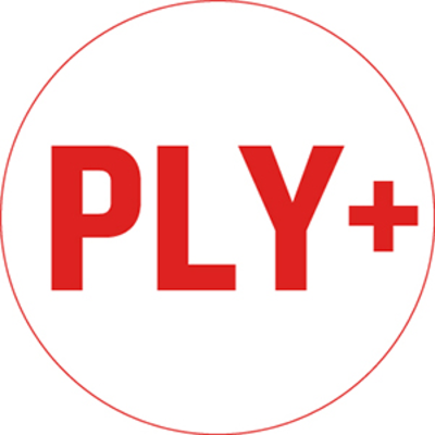 PLY+ Research and Studio Logo