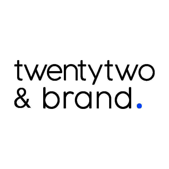 twentytwo & brand. Logo