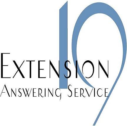Extension 19 Answering Service Logo