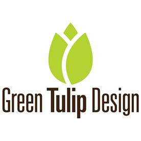 Green Tulip Design Logo