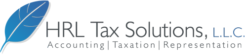 HRL TAX SOLUTIONS logo