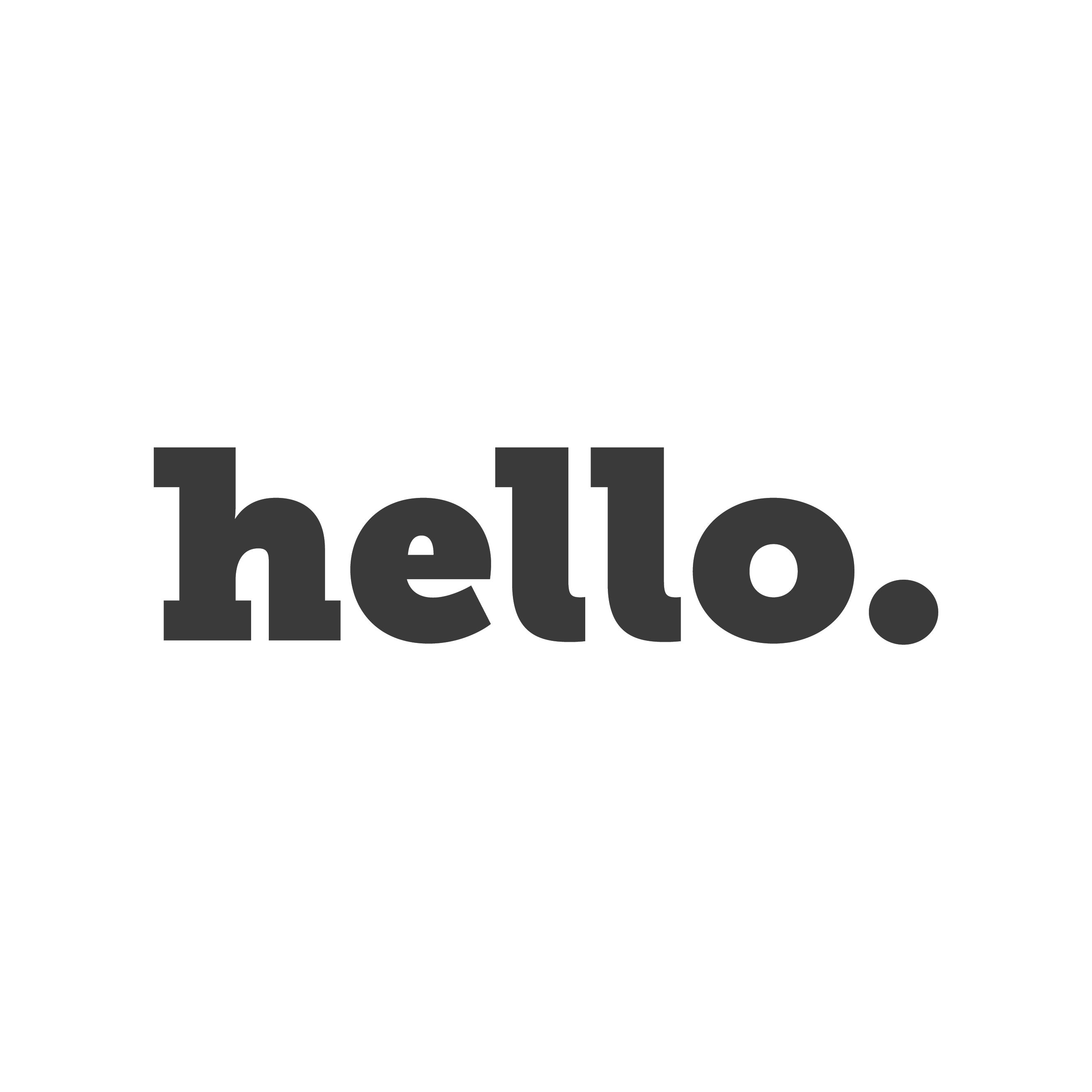 hello. Logo
