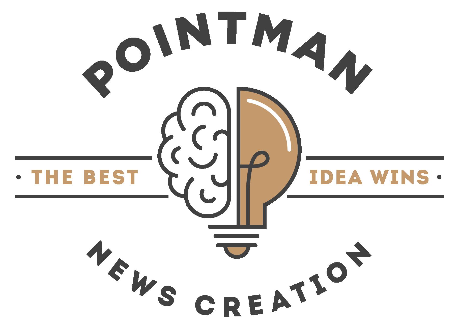 Pointman News Creation  Logo