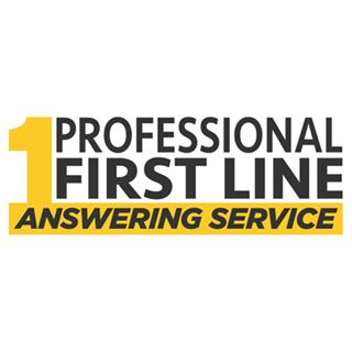 Professional First Line Answering Service Logo