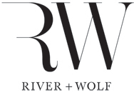 River + Wolf Logo