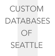 Custom Databases of Seattle Logo