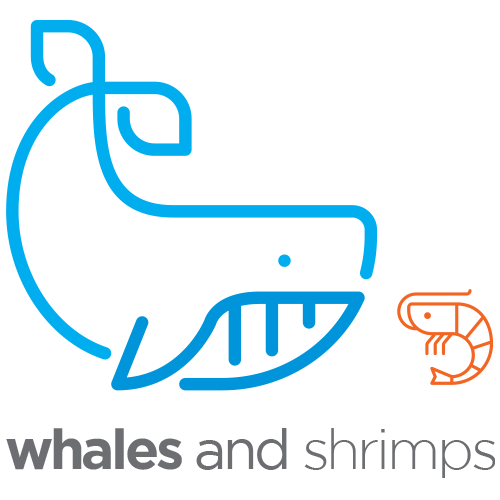 Whales and Shrimps Agency Logo