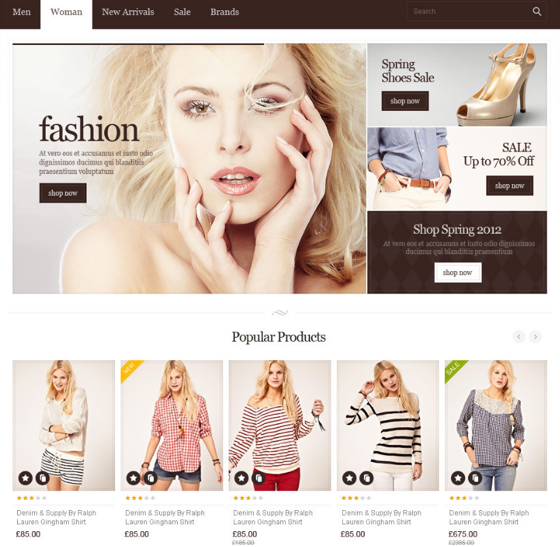 Magento 2 themes are customized for different industries.