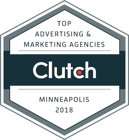 badge of top marketing and advertising companies in minneapolis in 2018