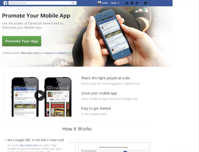 Promote App with Facebook