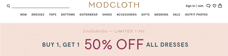 modcloth sale limited time