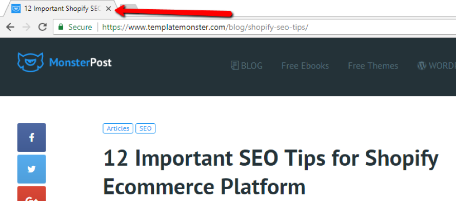 Use a title tag to help with search engine results.