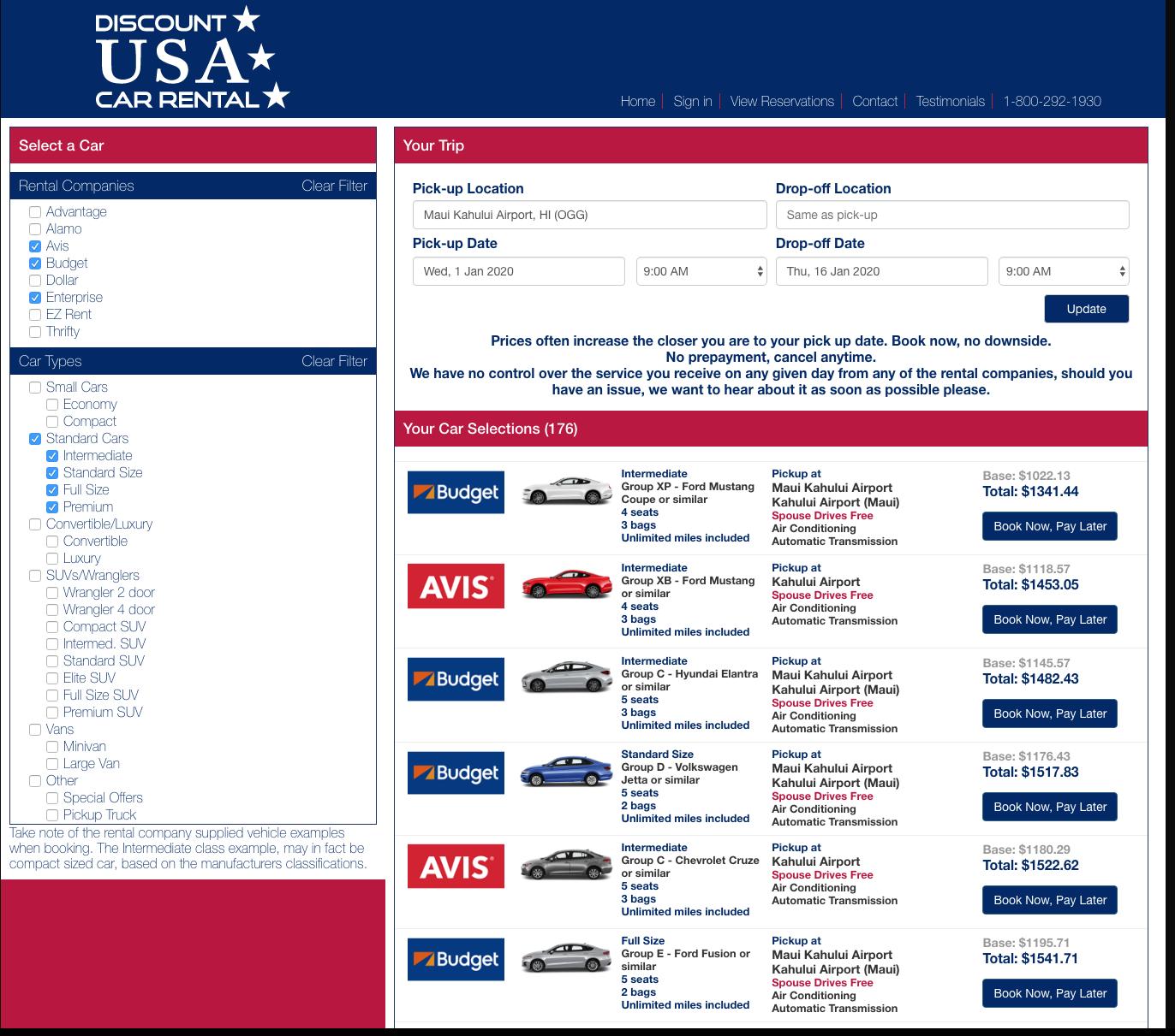 Car Rental Usa >> Discount Usa Car Rental Booking Engine And Website Clutch Co