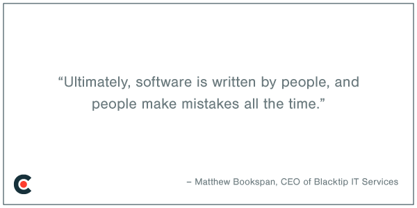 Software it written by people - quote card
