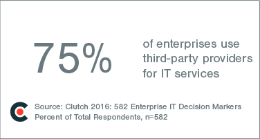 75% of enterprises use third party providers for IT services