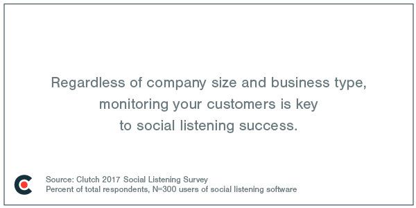 Monitoring your customers is key to social listening success