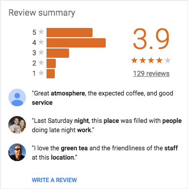 getting customer reviews improves your Google local listing page
