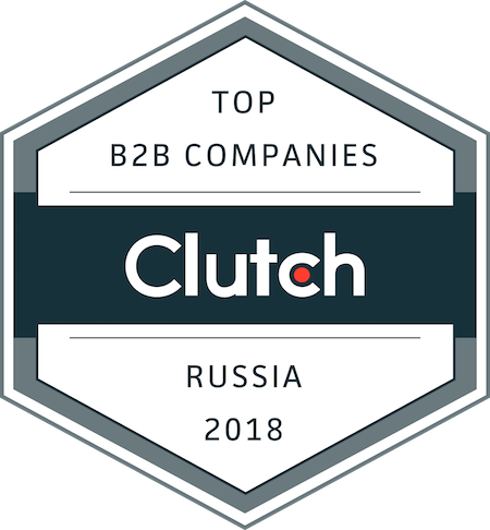 badge for top B2B service providers in Russia in 2018