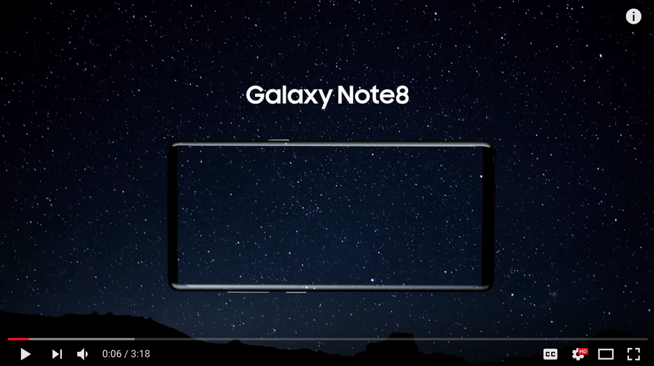 """Samsung Galaxy Note8: Official Introduction"""
