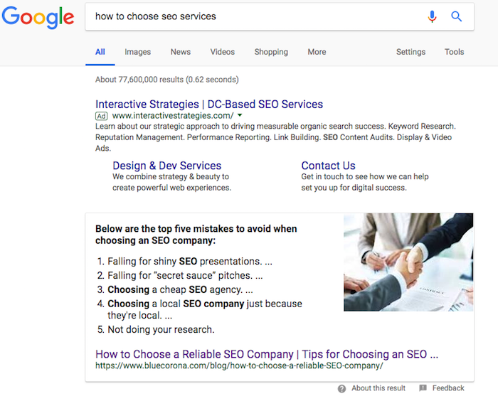How to Choose SEO Services SERP