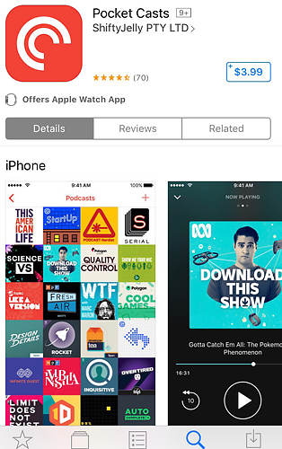 Pocket Casts offers advanced features for a price.