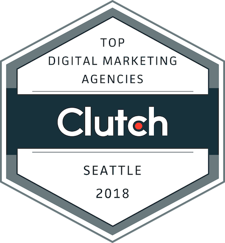 badge for top marketing and design companies in Seattle in 2018