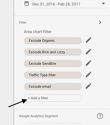 Set filters in Google Data Studio