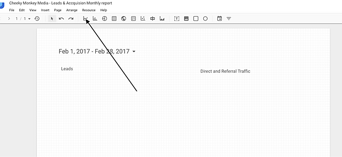 create a time chart in Google Data Studio