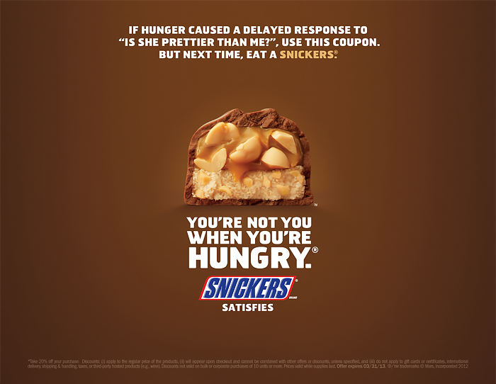 Snickers Bar Example TV Ad