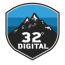32 degrees digital Logo
