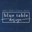 Blue Table Design Logo