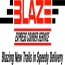 Blaze Express Courier Service Logo