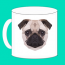 Pug Mug Marketing Logo