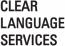 CLEAR LANGUAGE SERVICES logo