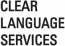 CLEAR LANGUAGE SERVICES Logo