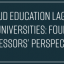 Cloud Education Lags at Universities: 4 Professors' Perspectives