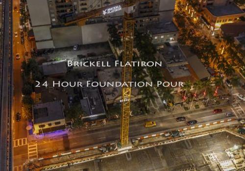 Brickell Flatiron Foundation Pour Timelapse