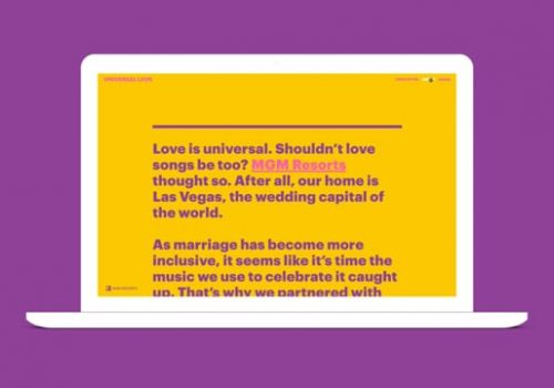 Universal Love - Website Experience