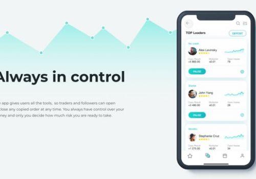 Social Trading Platform App Animation
