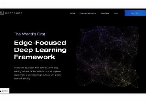 DeepCube Landing Page