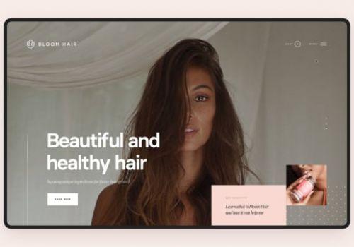 Bloom Hair Website walkthrough