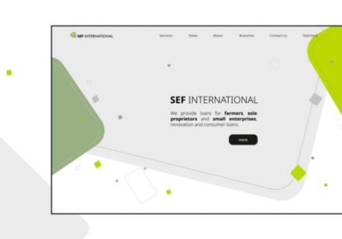 SEF International Website Homepage Design