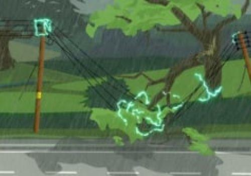 Storm Powerline Damage - Public Safety Animation - UKPN