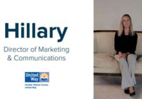 Why Marketing? Hillary Hovinga of Greater Ottawa County United Way
