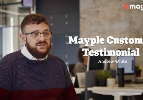 Mayple Customer Testimonial- Andrew White, CMO, SaaS Industry