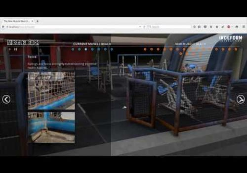 Interactive 3D Muscle Beach in Venice, California
