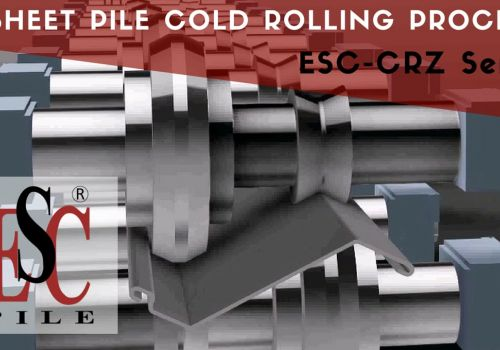 ESC Animated Z Sheet Pile Cold Rolling / Cold Forming Processs